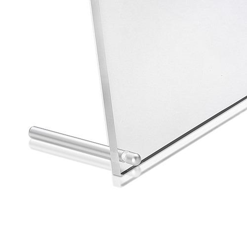 1/4'' Diameter x 2'' Length Conical Desktop Table Standoffs (Aluminum Clear Anodized)