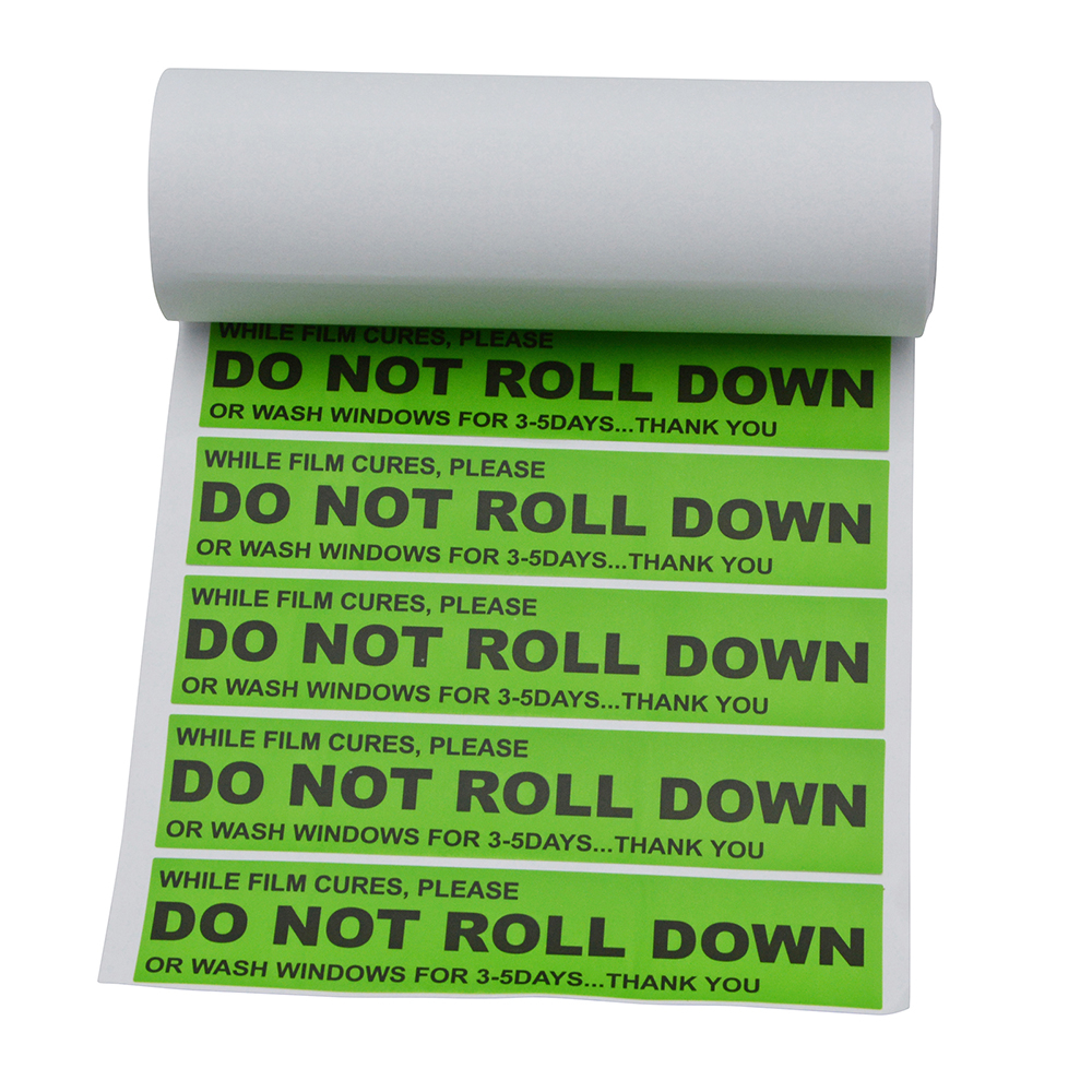 Green ''DO NOT ROLL DOWN'' Sticker for Window Switches