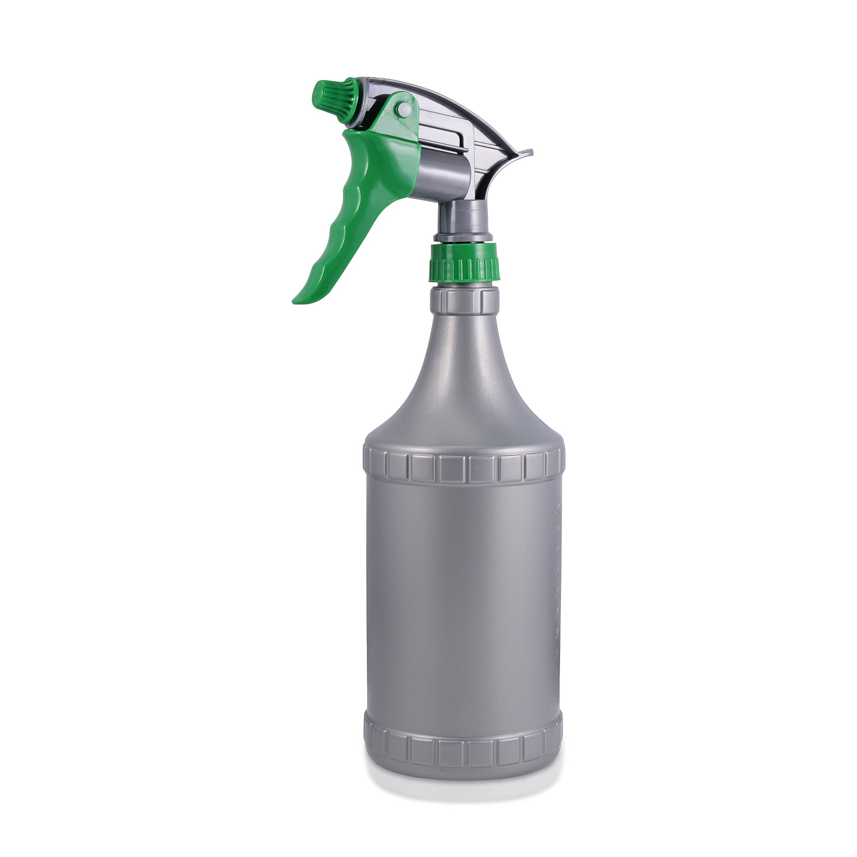 30 oz Gray Commercial-Grade Spray Bottle with Ajustable Spray Settings