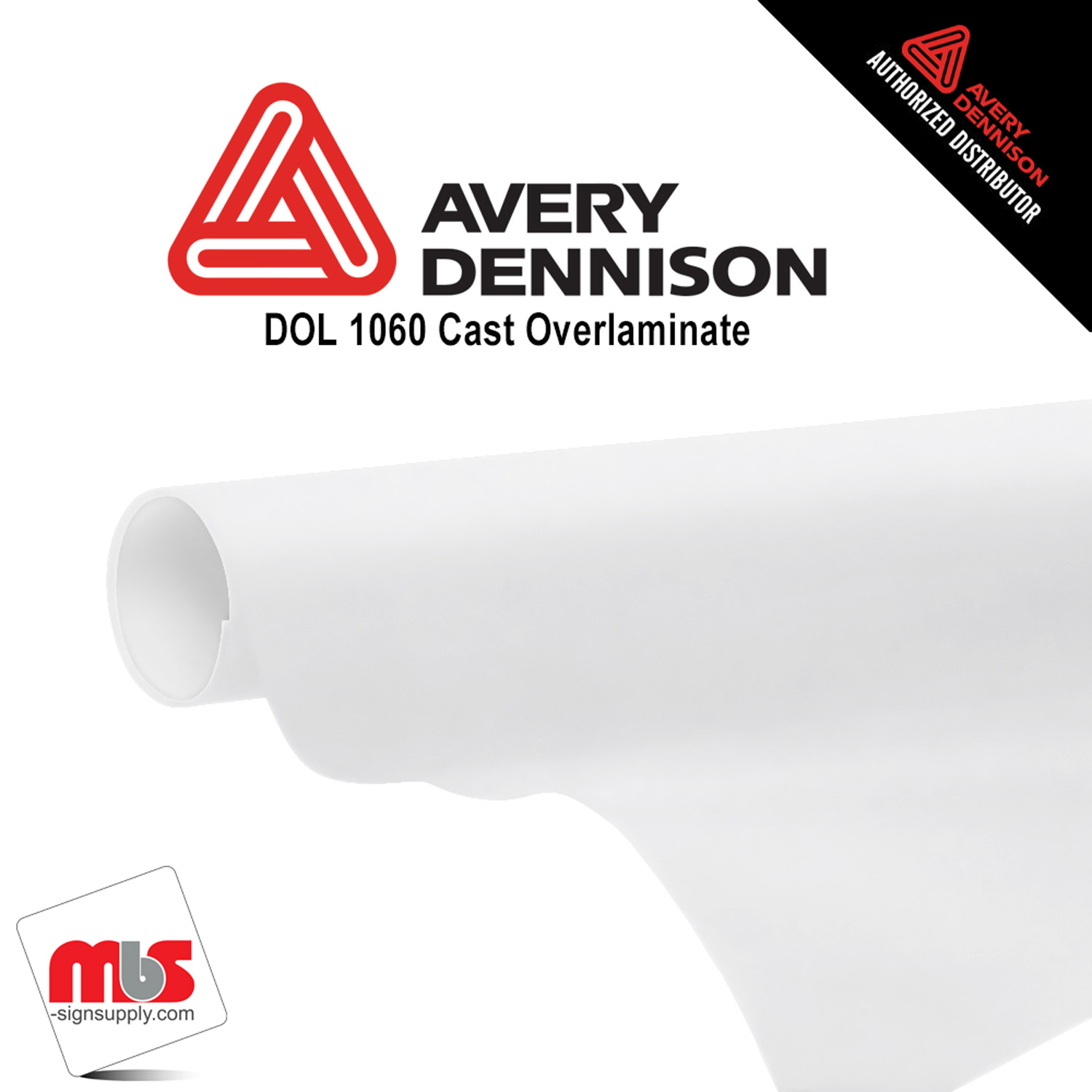 30'' x 50 yards Avery DOL1060Z High Gloss Clear 5 year Long Term Unpunched 2.1 Mil Cast Overlaminate (Color Code 103)