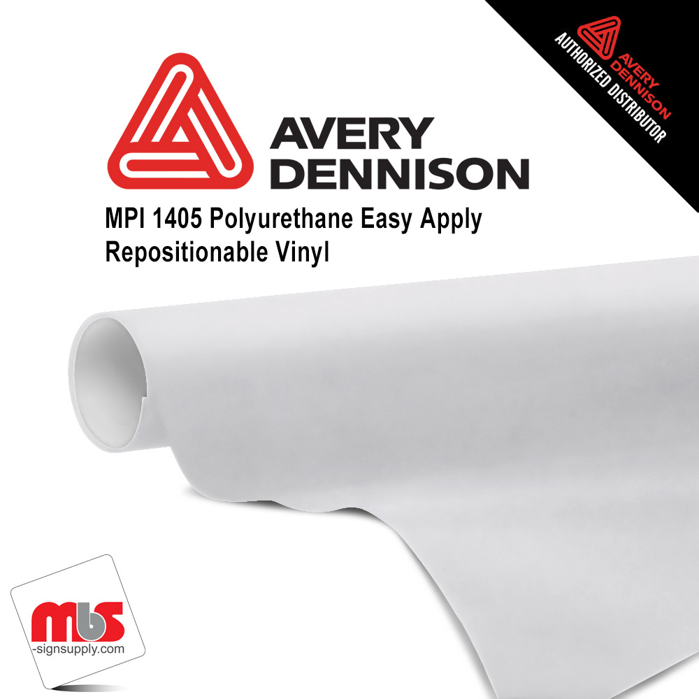54'' x 50 yards Avery MPI1405 Gloss White 2 Year Indoor / 6 Mo Outdoor Long Term Unpunched 2.0 Mil Cast Printable Wrap Media (Color Code 101)