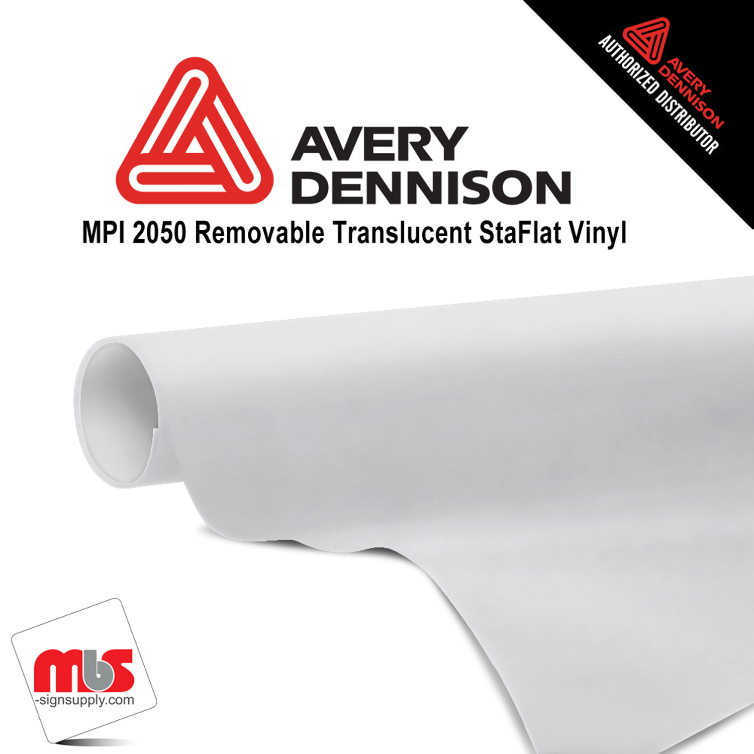 54'' x 25 yards Avery MPI2050 Matte White 6 Year Long Term Unpunched 3.0 Mil Backlit Film (Color Code 102)