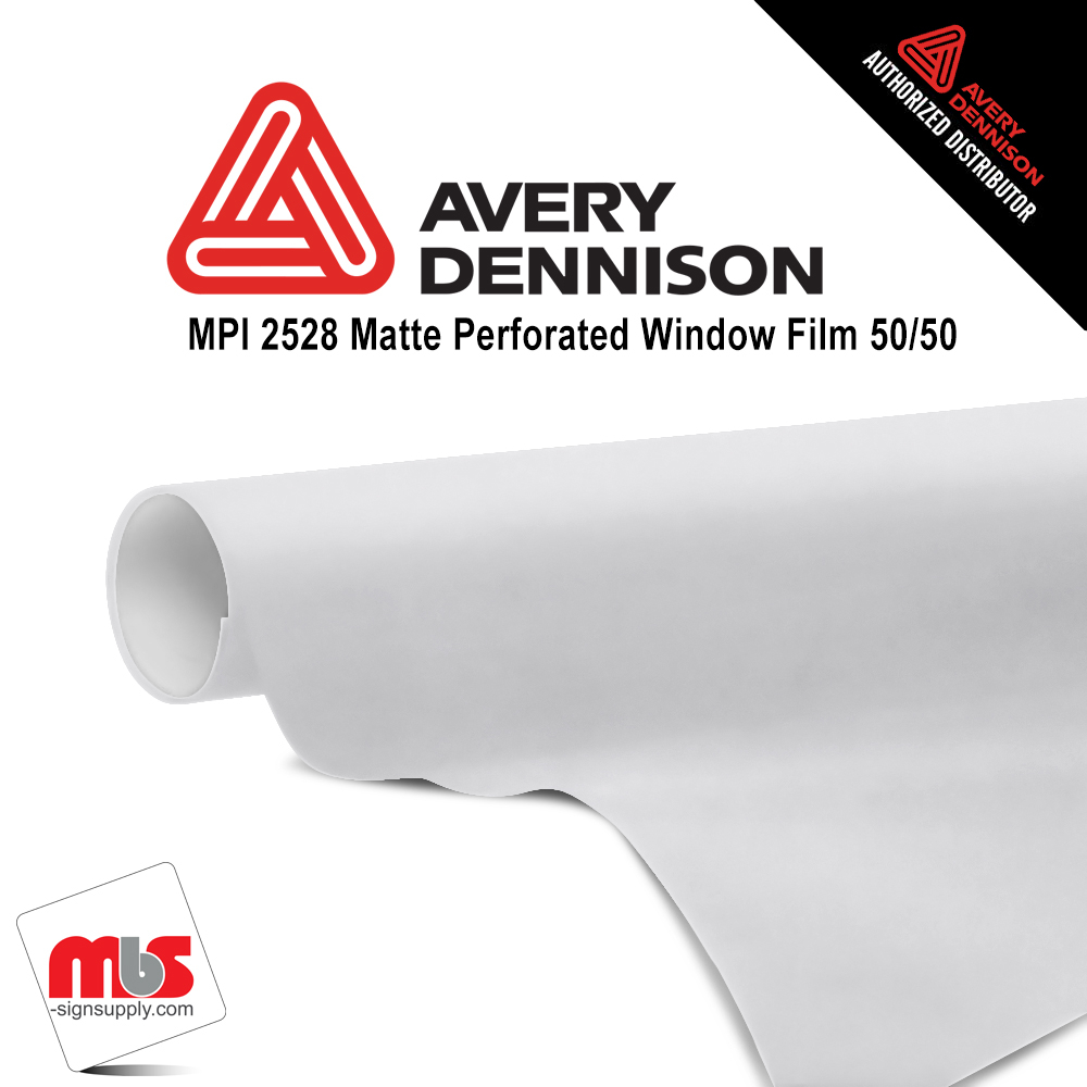 54'' x 25 yards Avery MPI2528 Matte White 3 Years Long Term Unpunched 7 Mil Window Media (Color Code 102)