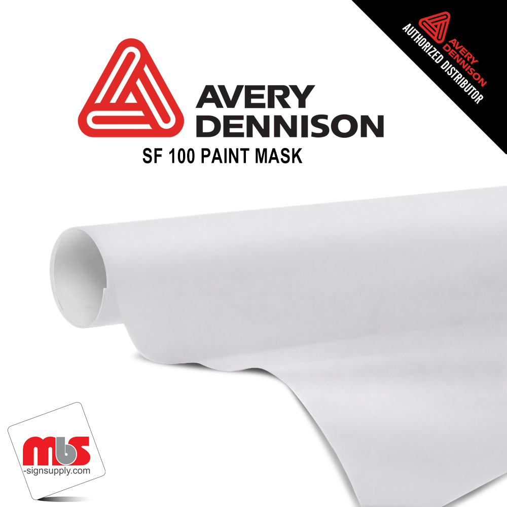 15'' x 10 yards Avery Paint Mask Matte White 1 Year Short Term Punched 3.4 Mil (Color Code 128)