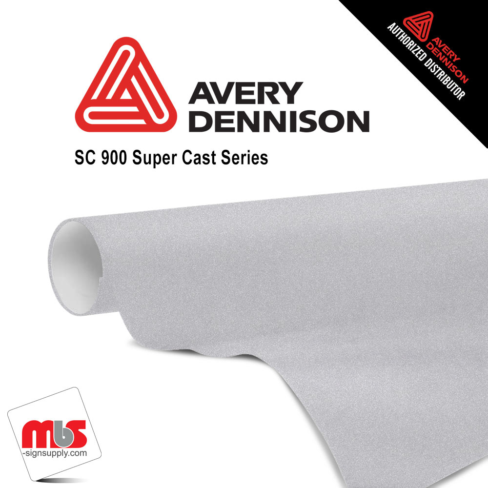 15'' x 50 yards Avery SC900 Frosted Sparkle 5 Year Long Term Punched 2.1 Mil Frosted  (Color Code 862)