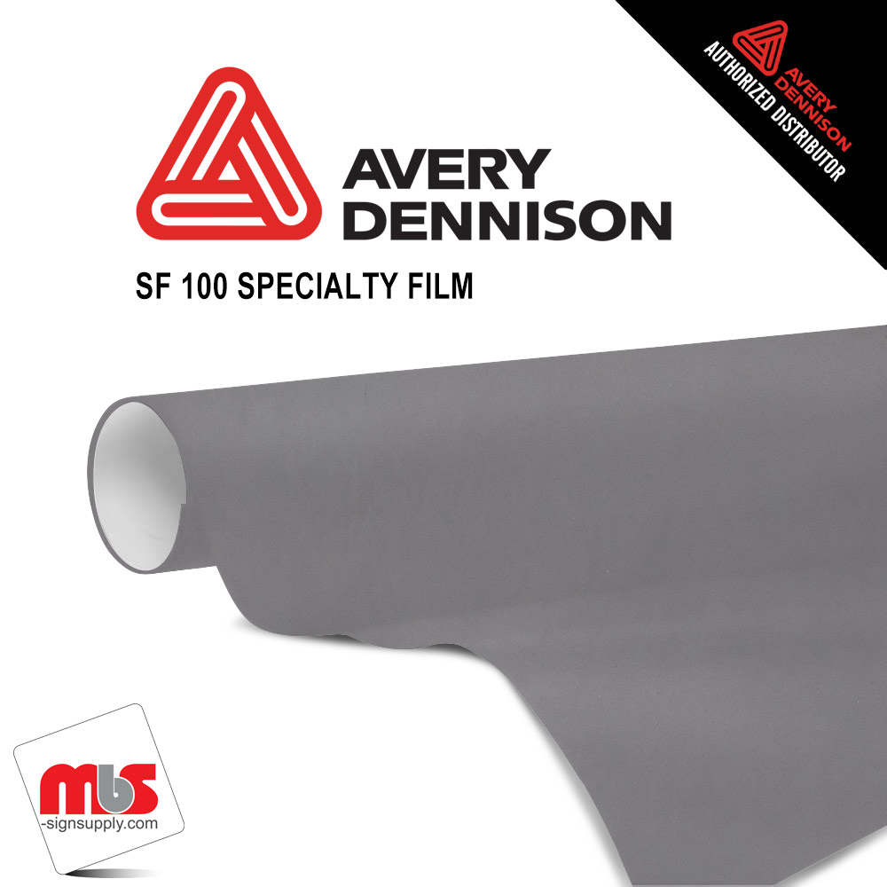 53'' x 10 yards Avery SF100 Chrome Black 3 year Long Term Unpunched 5.7 MIL Conform Chrome Wrap Vinyl (Color Code 196)