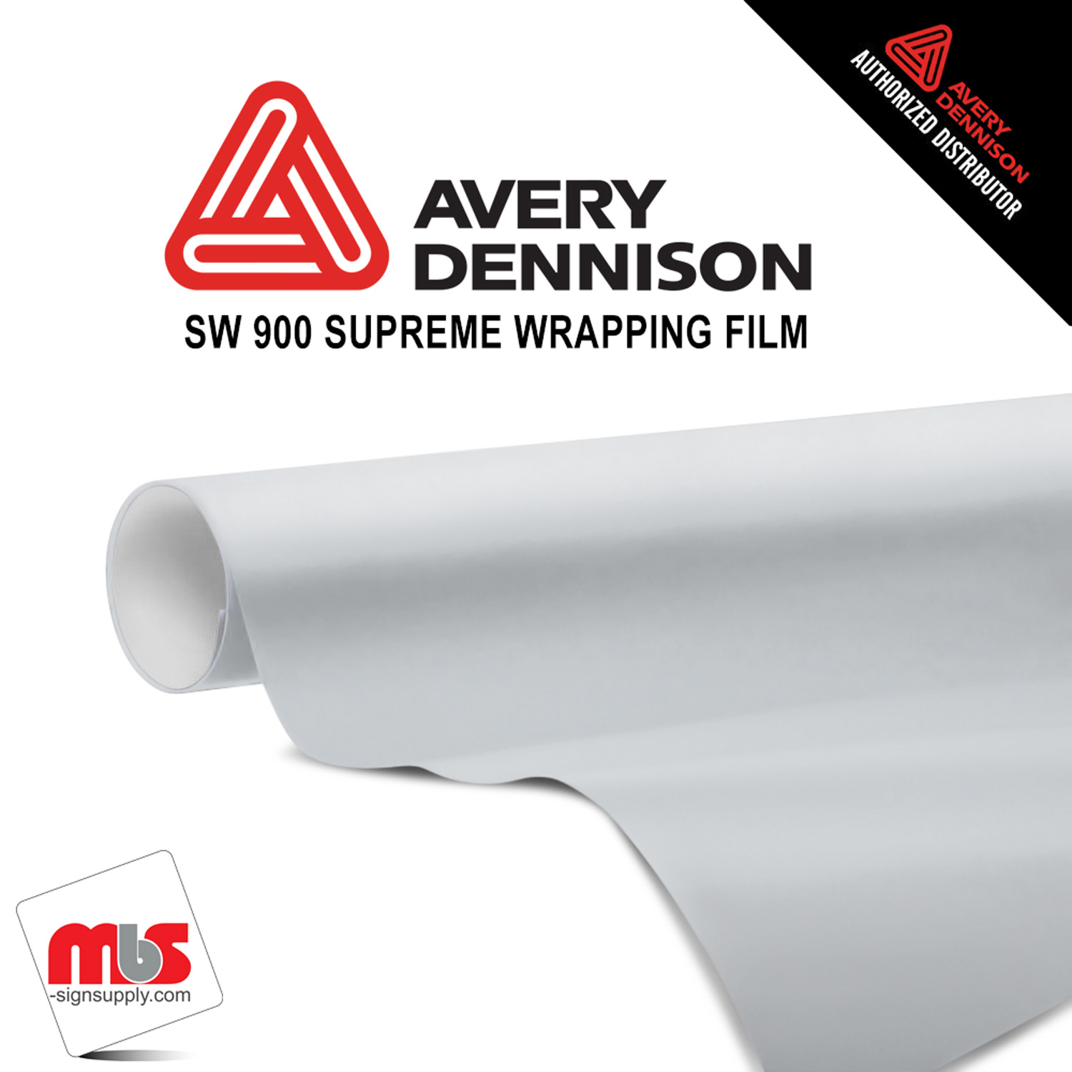60'' x 25 yards Avery SW900 Gloss White 5 year Long Term Unpunched 3.2 Mil Wrap Vinyl (Color Code 101)