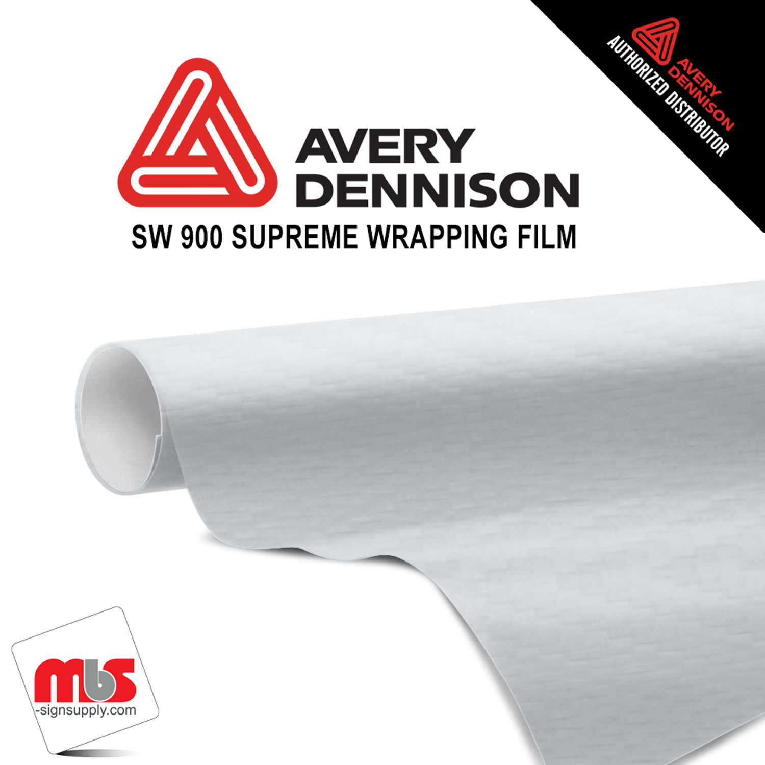 60'' x 10 yards Avery SW900 Carbon Fiber White 5 year Long Term Unpunched 3.2 Mil Wrap Vinyl (Color Code 115)
