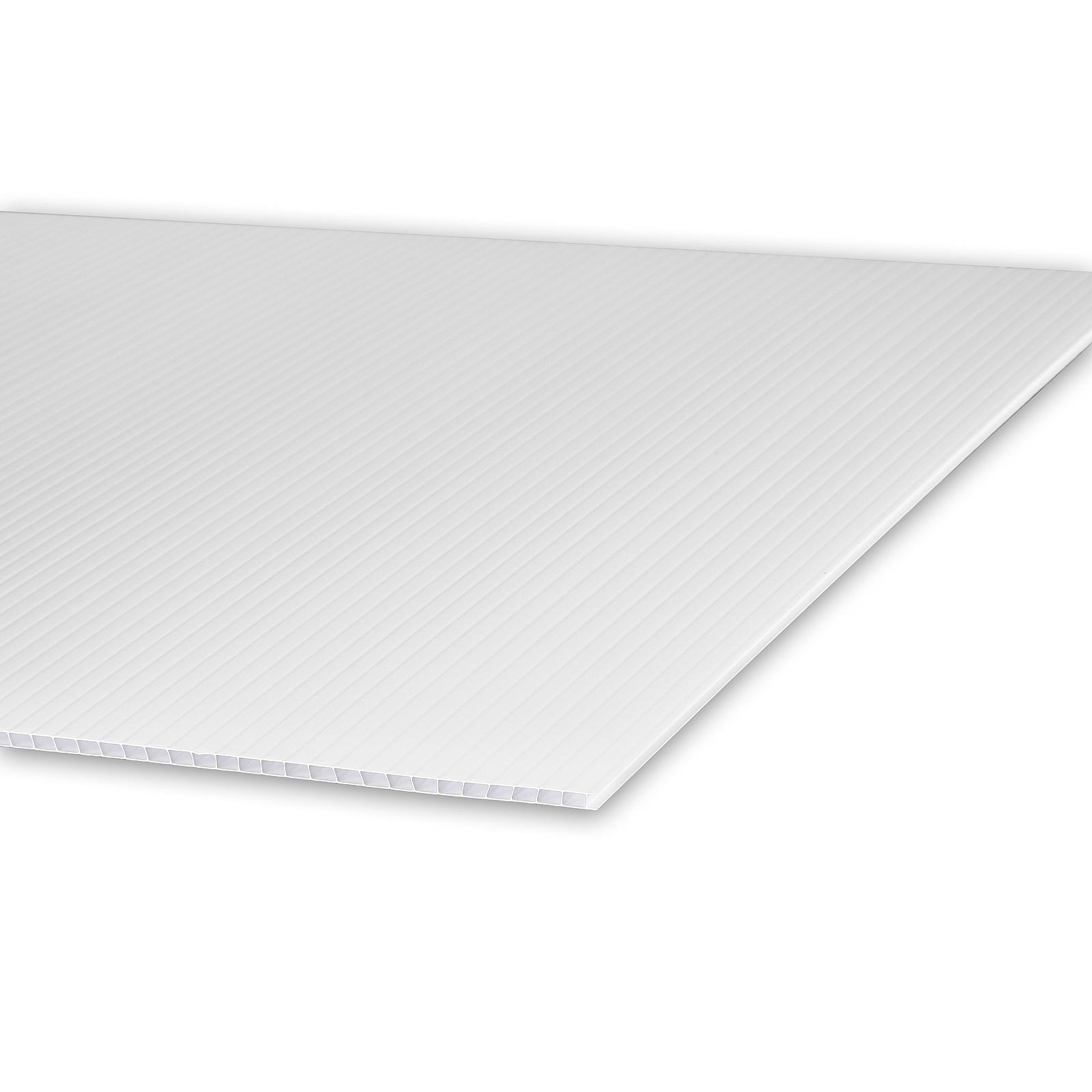 (1) 12''W x 18''H x 4mm White Corrugated Plastic Board and (1) Economy Stakes 10'' x 30'' (SKU: CB12-18W x ESS1030)