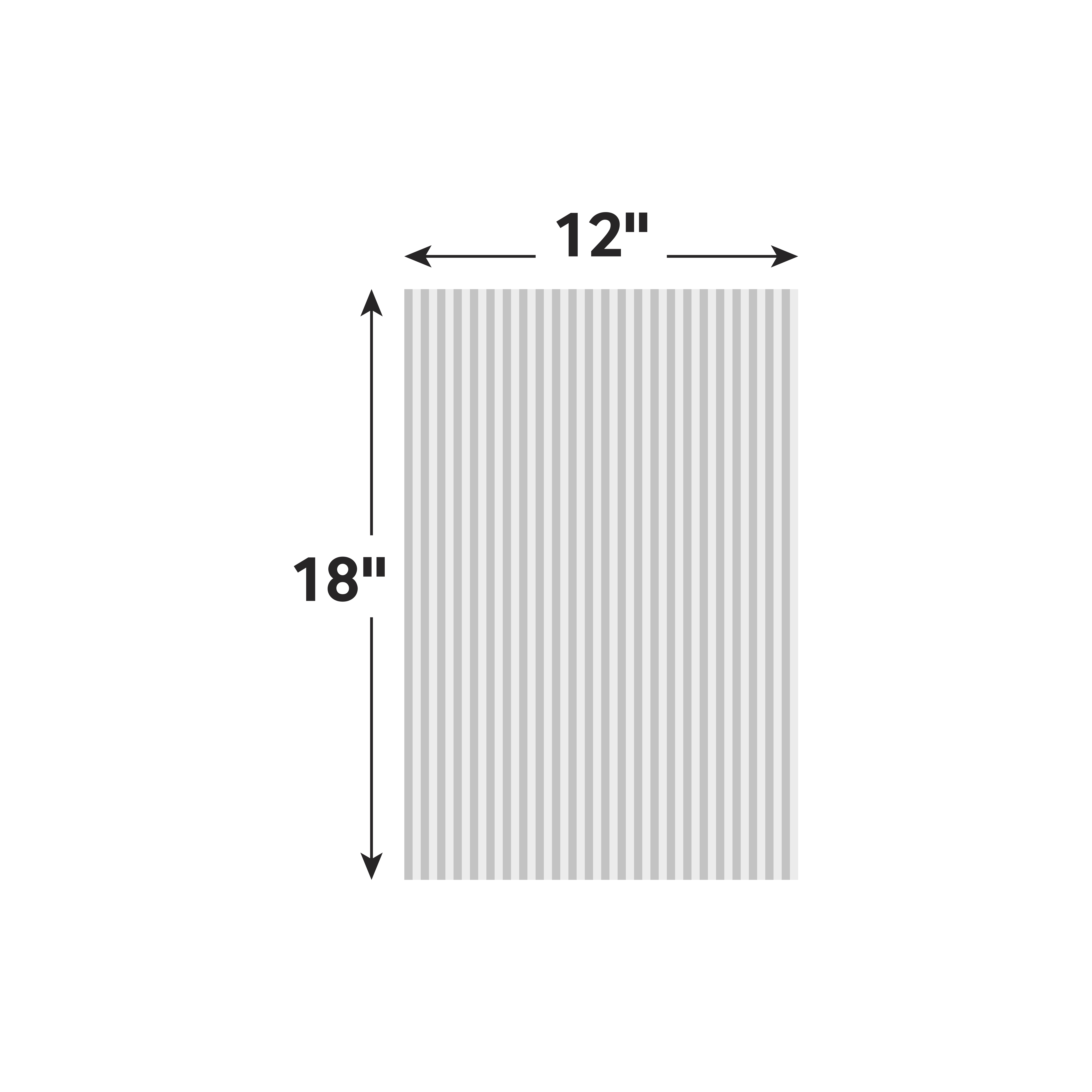 12''W x 18''H x 4mm White Corrugated Plastic Board