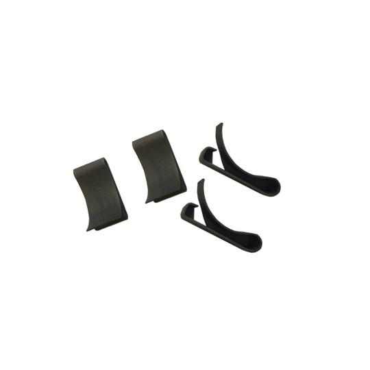 3/4'' x 3/4'' x 1/8'' Black Iron Metal Frame Clips (accepts up to 1/8'' thickness)