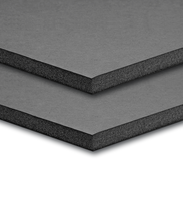 48'' W x 96'' H x 3/16'' T- Black Ultra Mount Board