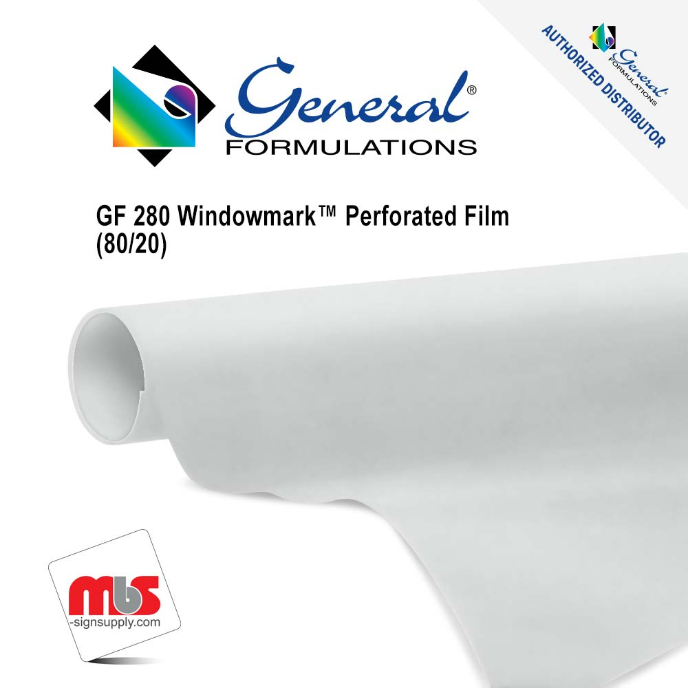 • Designed for exterior/outside mounted one way view • 80/20, 70/30, or 60/40 opacity and 6 mil thickness