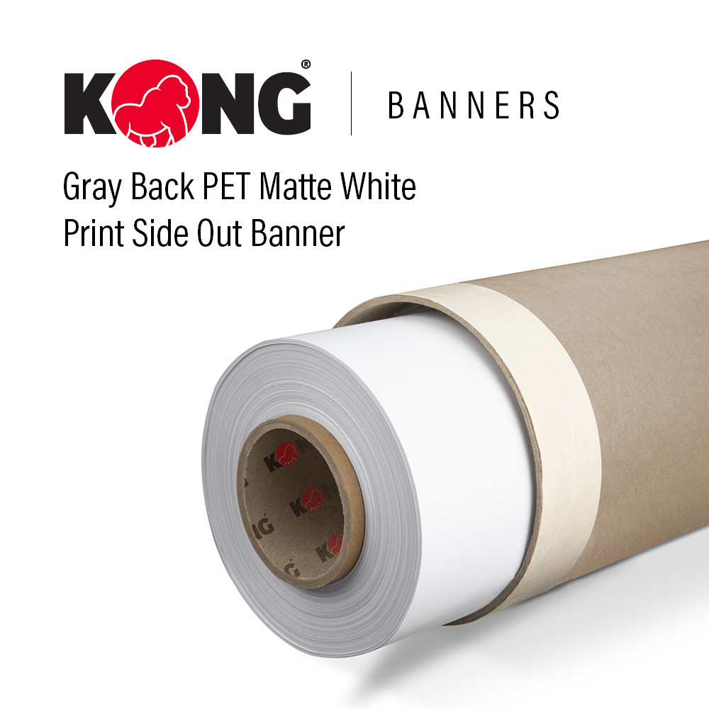 • Gray-backing prevents light transparency and shadowing and allows print on one side. • 11 mil thickness on PET material