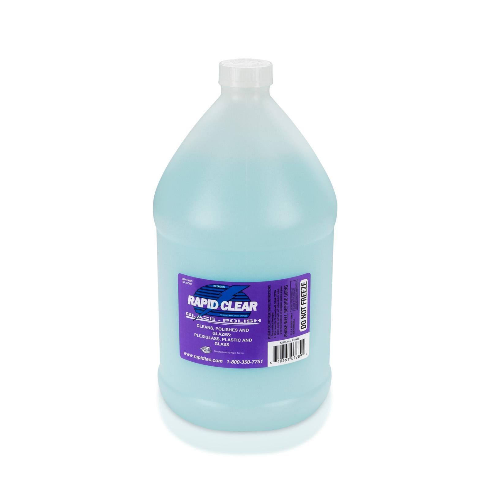 Rapid Tac Rapid Clear, Film and Polycarbonate Polish, 1 Gallon Jug