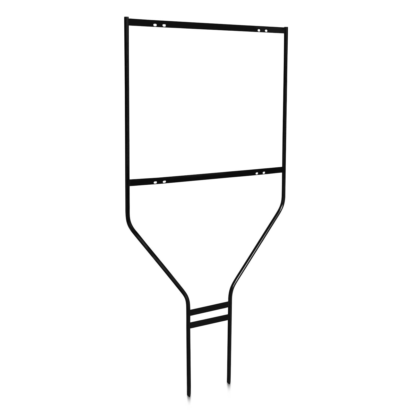 24'' Wide  x 18'' Tall x 1/2'' Rod Black Round Heavy DutySign Panel Frame