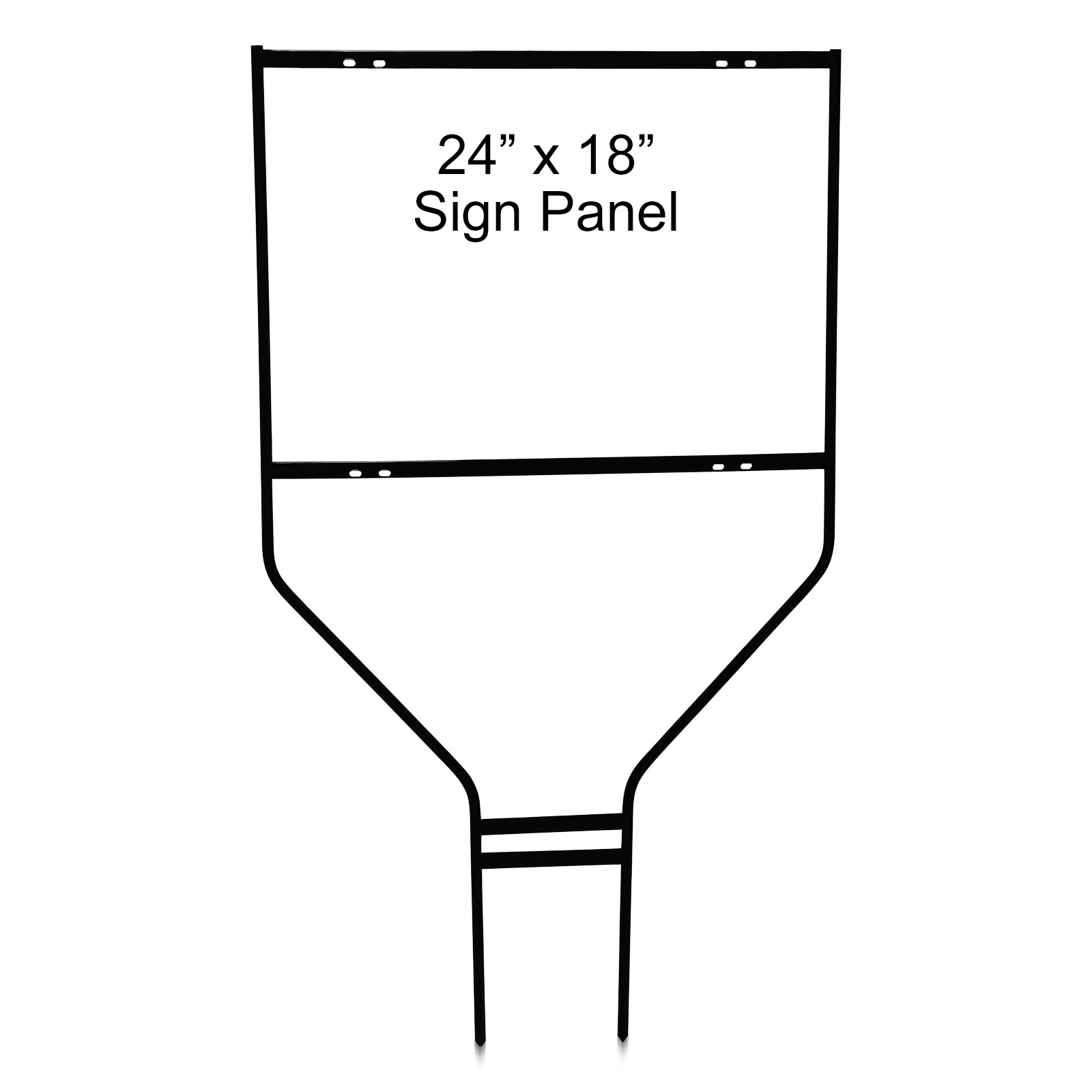 24'' Wide  x 18'' Tall x 1/2'' Rod Black Round Heavy DutySign Panel Frame
