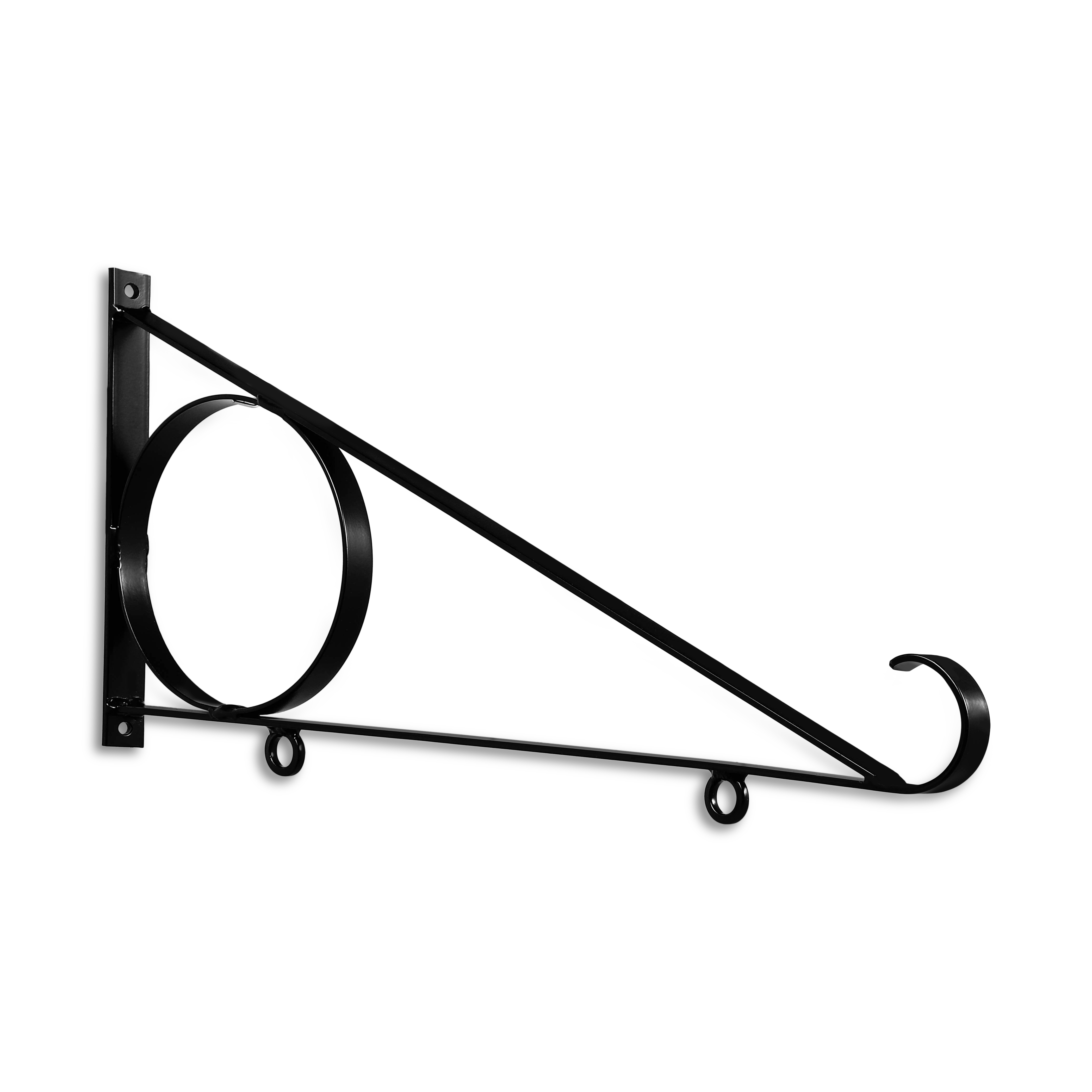 24'' Black Horizontal Flat Bar Steel Sign Bracket