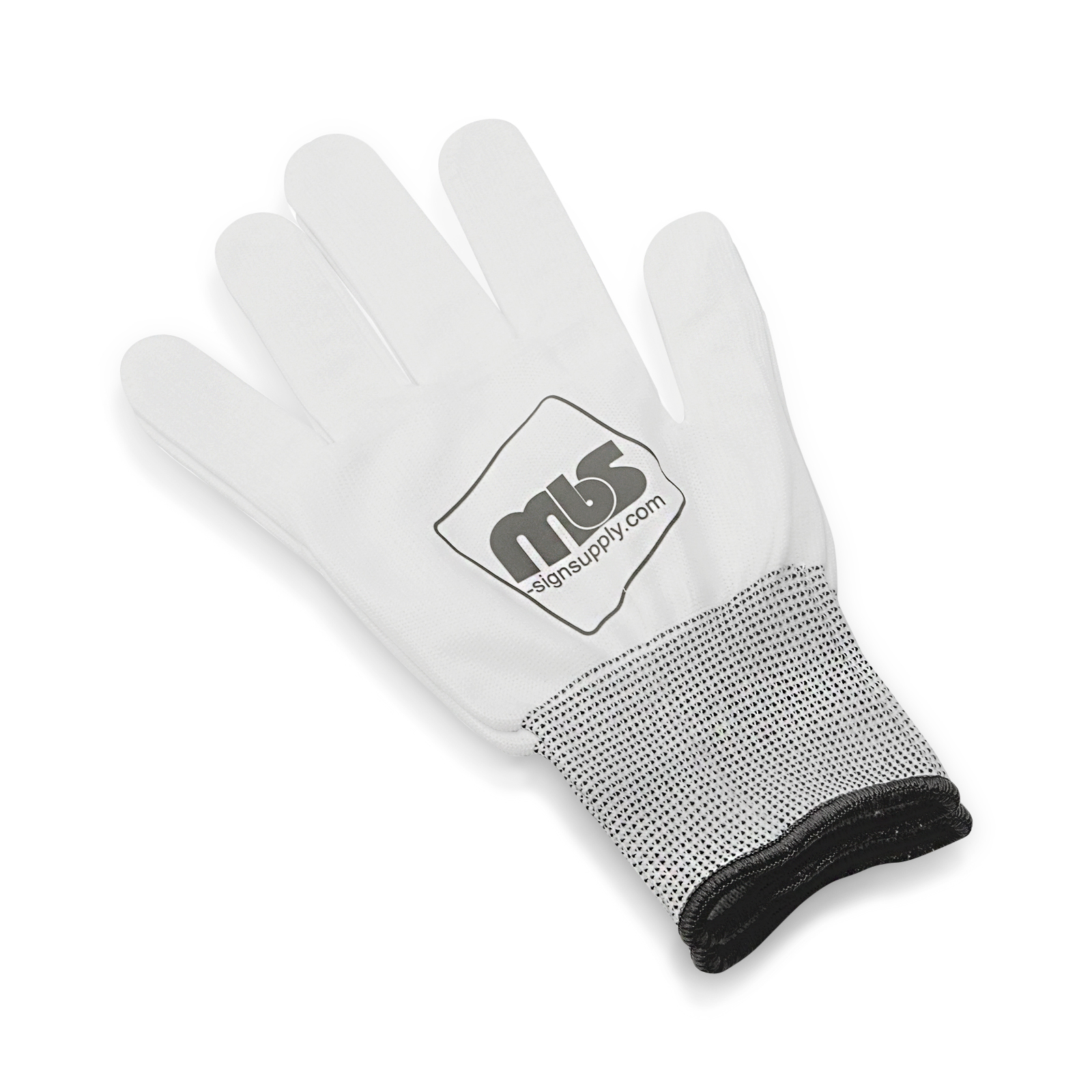 MBS White Professional Vinyl Wrap Anti-Static Application Gloves (Large)