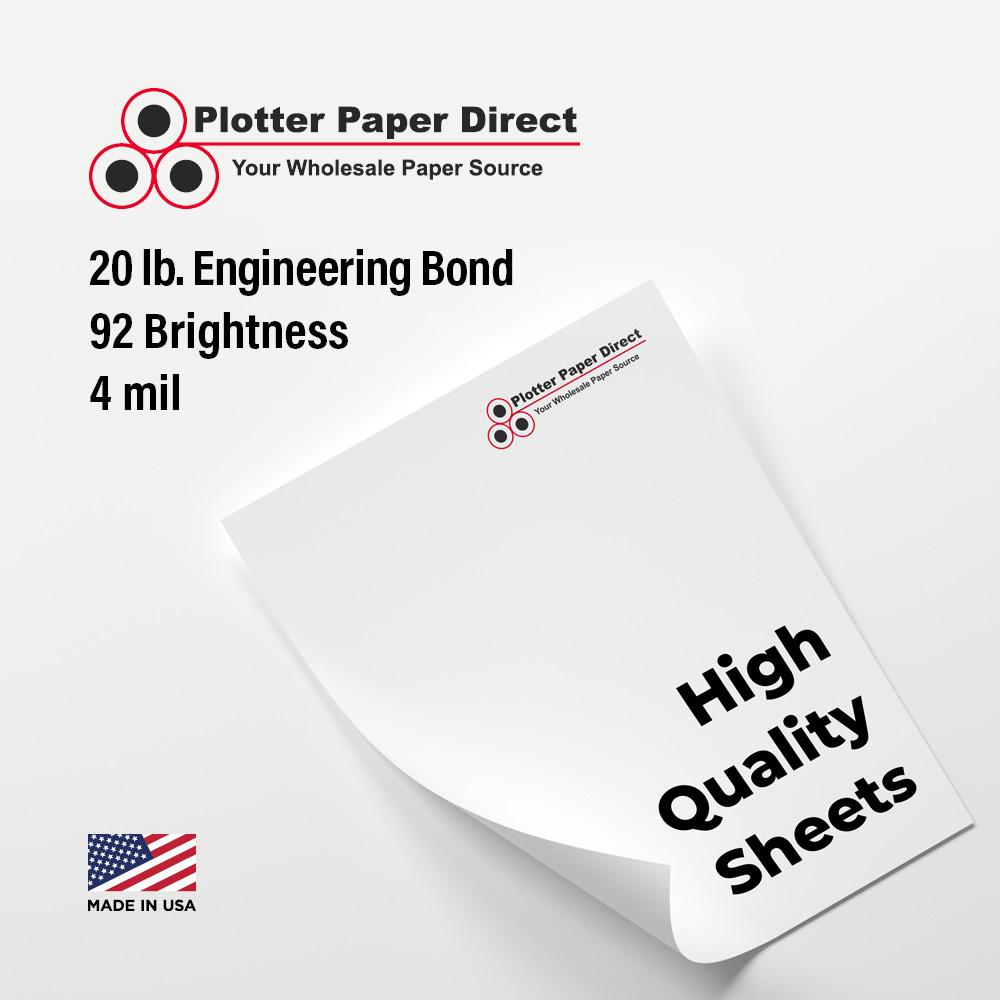 11'' W x 17'' H Cut Sheets - 20# Engineering Bond (100 Sheets)