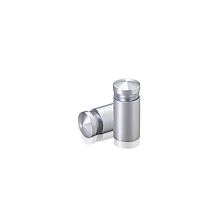 1/2'' Diameter X 3/4'' Barrel Length, Aluminum Rounded Head Standoffs, Clear Anodized Finish Easy Fasten Standoff (For Inside / Outside use)