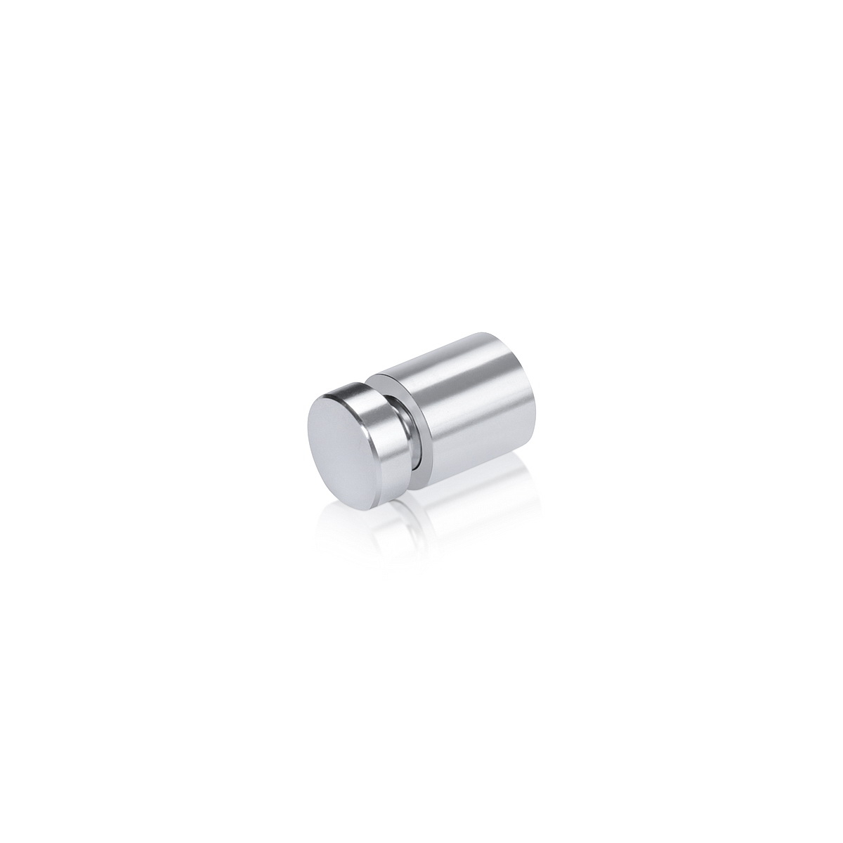 (Set of 4) 1/2'' Diameter X 1/2'' Barrel Length, Affordable Aluminum Standoffs, Silver Anodized Finish Easy Fasten Standoff and (4) 2208Z Screw and (4) ANC1 Anchor for concrete or drywall (For Inside / Outside use)