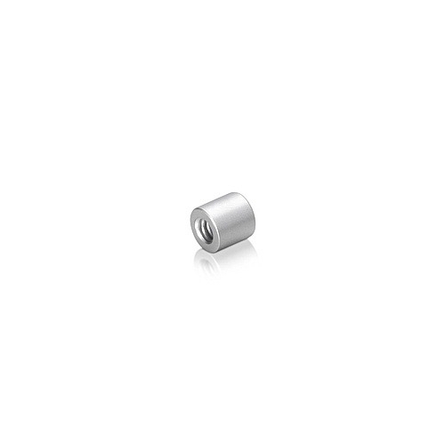 6-32 Threaded Barrels Diameter: 1/4'', Length: 1/4'', Clear Anodized Aluminum