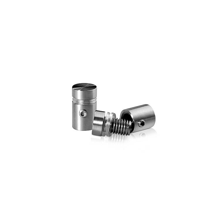 1/2'' Diameter X 1/2'' Barrel Length, (304) Stainless Steel Brushed Finish. Easy Fasten Standoff (For Inside / Outside use) Tamper Proof Standoff