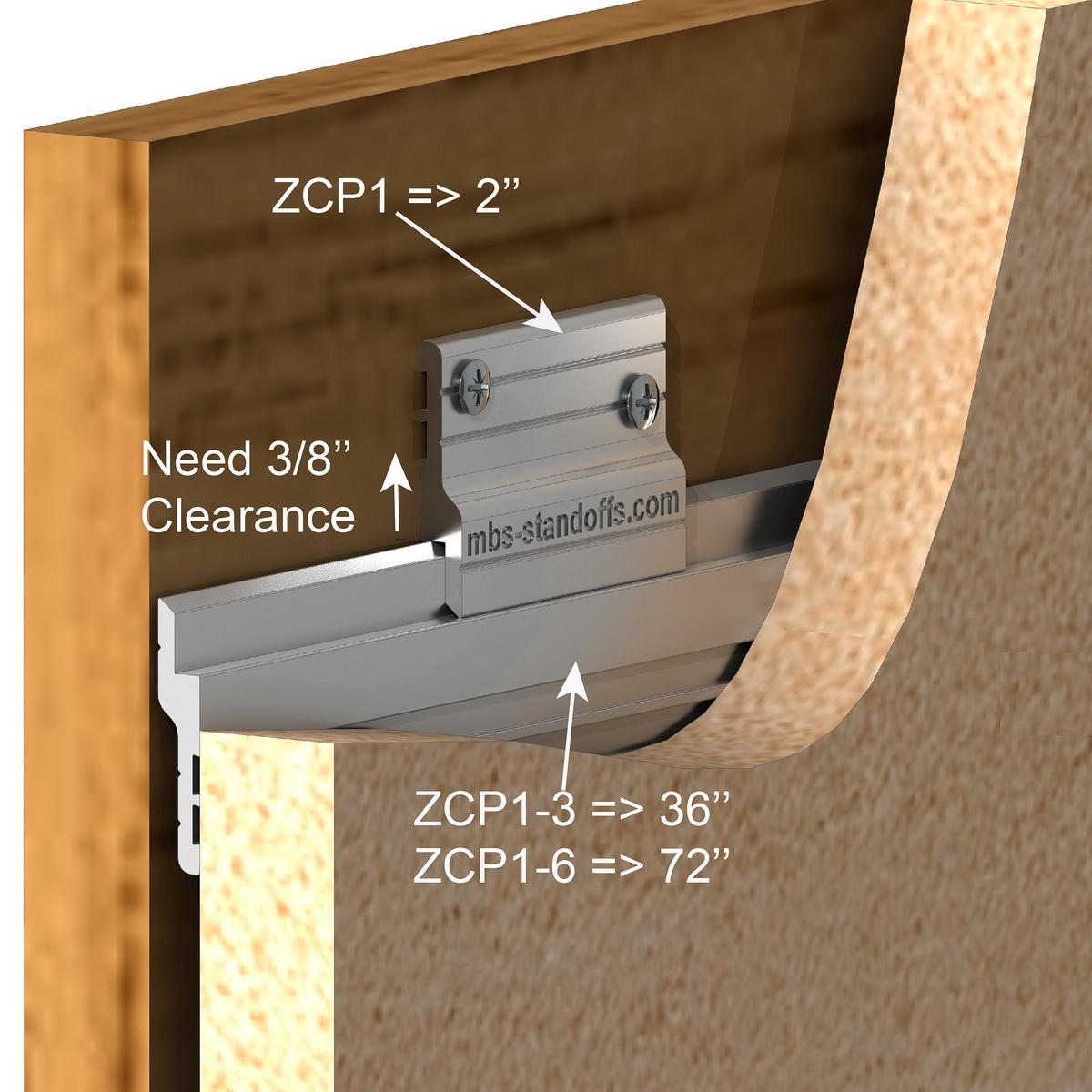 Aluminum Z-Clip 2'' Medium to Heavy Duty